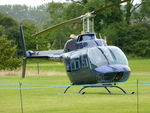 G-OCFD @ EGHR - 1980 Bell 206B, c/n: 3165 at Goodwood