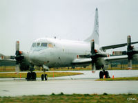157314 @ EGQK - Scanned from print.P3C Orion 157314 coded LD-314 of USN VP-10 pictured at RAF Kinloss EGQK in Feb '96 during a Joint Maritime Course (JMC). - by Clive Pattle