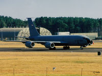 62-3547 @ EGQL - Scanned from print - KC135R 62-3547 of USAF 133 ARW New Hampshire ANG arriving at RAF Leuchars for the BoB Airshow '95 - by Clive Pattle