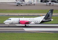 N428XJ @ TPA - Silver Saab 340