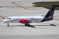 N433XJ @ FLL - Silver Saab 340