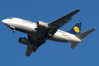 D-ABJD @ EGLL - Boeing 737-530 [25309] (Lufthansa) Home~G 31/01/2011. On approach 27R. - by Ray Barber