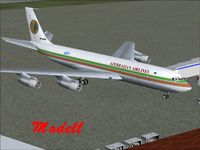 4K-AZ4 @ UBBB - Freeware modell of 4K-AZ4 in its 1998 Az Al Cargo livery for MS Flight Simulator 9.
