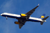 TF-FIN @ EGLL - Boeing 757-208 [28989] (Icelandair) Home~G 18/01/2011. On approach 27R.