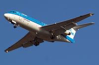 PH-KZM @ EGLL - Fokker F-70 [11561] (KLM cityhopper) Home~G 31/01/2011. On approach 27R.