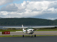 G-BPFZ @ EGEO - In the parking area, Oban Airport. - by Jonathan Allen
