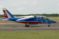 E130 @ LFOA - Dassault Dornier Alphajet (F-TERP), Athos 03 of Patrouille de France 2012, Avord Air Base 702 (LFOA) Open day 2012 - by Yves-Q