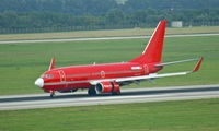 D-AGEY @ EDDL - Germania (Sterling cs.), seen here shortly after landing at Düsseldorf Int'l(EDDL) - by A. Gendorf