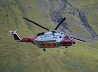 G-MCGD - Airlifting injured person from Glenbrittle area in Cuillins, Isle of Skye - by Tony LeMoignan