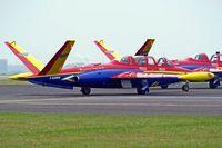 F-GJMN @ LFAC - Fouga CM-170R Super Magister [424] Calais~F 13/08/2006
