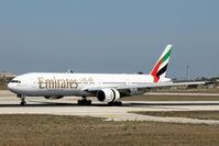 A6-EMV @ LMML - B777 A6-EMV Emirates Airlines. - by Raymond Zammit