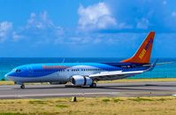 C-FRZJ @ TNCM - Sunwing after landing at tNCM - by Daniel Jef