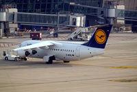 D-AVRL @ EBBR - British Aerospace BAe 146-RJ85 [E2285] (Lufthansa Regional) Brussels~OO 13/08/2006 - by Ray Barber