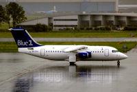 OH-SAH @ EHAM - British Aerospace BAe 146-RJ85 [E2383] (Blue 1) Amsterdam-Schiphol~PH 10/08/2006. Taken during a thunderstorm.