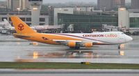 N901AR @ MIA - Centurion Cargo 747-400 departing MIA in a thunderstorm