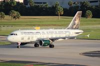 N928FR @ TPA - Hank the Bobcat Frontier A319