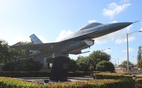 79-0326 @ HST - F-16 in front of Homestead ARB - by Florida Metal