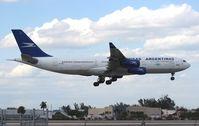 LV-ZPX @ MIA - Aerolineas Argentinas A340-200