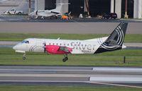 N433XJ @ TPA - Silver Saab 340B