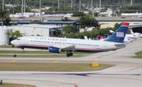 N444US @ FLL - USAirways 737-400
