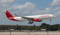 N508AV @ FLL - Avianca A330-200