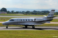CS-DXJ @ EGCC - Net Jets taxi to gate - by Clive Pattle