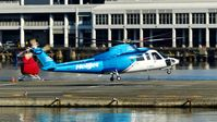 C-GHJJ @ CBC7 - Helijet lifting off from Vancouver Harbour Heliport. - by M.L. Jacobs