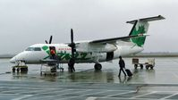 C-GONY @ CYSB - Air Canada Jazz Dash 8 loading for departure. - by M.L. Jacobs