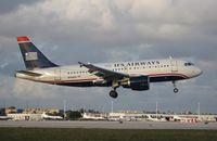 N763US @ MIA - US Airways A319