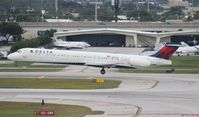 N908DL @ FLL - Delta MD-88 - by Florida Metal