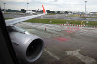 9V-JSV @ WSSS - My first flight on an A320 with sharklets. Rainy farewell from Singapore. - by Micha Lueck