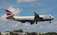 G-CIVA @ MIA - British 747-400