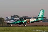N901ST @ 8N2 - Departing Skydive Chicago - by Dave G