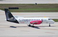 N344AG @ FLL - Silver Saab 340