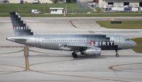 N525NK @ FLL - Spirit A319