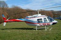 G-BXAY @ EGBC - Bell 206B-3 Jet Ranger III [3946] Cheltenham Racecourse~G 16/03/2004