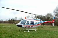 G-BXAY @ EGBC - Bell 206B-3 Jet Ranger III [3946] Cheltenham Racecourse~G 14/03/2008