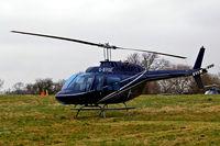 G-BYSE @ EGBC - Agusta-Bell AB.206B Jet Ranger II [8553] Cheltenham Racecourse~G 15/03/2008