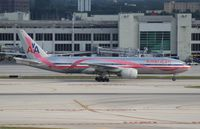 N759AN @ MIA - American pink ribbon 777-200