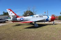 52-6379 - F-84F Thunderstreak on the side of Highway 17 in Wauchula FL - by Florida Metal