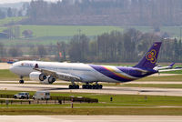 HS-TNF @ LSZH - Airbus A340-642 [953] (Thai Airways) Zurich~HB 07/04/2009