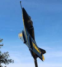 148490 - A-4L Skyhawk ex Blue Angels at a rest stop on I-10 near Pensacola FL - by Florida Metal