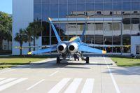 161955 @ NPA - Blue Angels F-18A - by Florida Metal