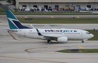 C-GWBJ @ FLL - West Jet 737-700 - by Florida Metal