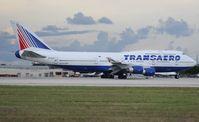 EI-XLM @ KMIA - Transaero 747-400