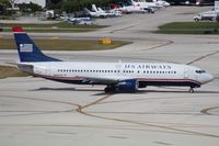 N444US @ FLL - US Airways 737-400