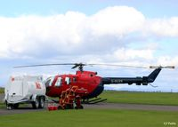 G-BUXS @ EGPT - Ready for action over Tayside - by Clive Pattle