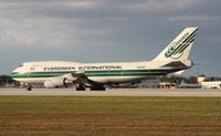 N492EV @ MIA - Evergreen 747-400