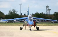 E163 @ LFOA - Dassault-Dornier Alpha Jet E, Athos 09 of Patrouille De France in 2012, Avord Air Base 702 (LFOA) Open day 2012 - by Yves-Q