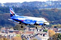 G-MAJD @ EGPD - On short finals for landing at Aberdeen EGPD - by Clive Pattle
